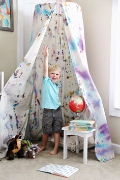 DIY Hoop Hideout // We Made It by Jennifer Garner Creative Kits for Kids // Fort Ideas