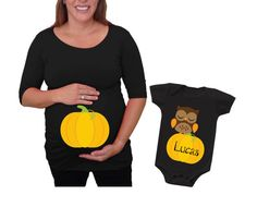 Halloween Maternity Shirt and baby set  by DJammarMaternity
