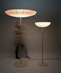 Kristine Five Melvær's Spring Lamps stretch towards the ceiling like living flowers.