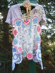 I made this vintage crochet doily top for my friend Tina to sell in her eBay shop a year ago...and it's on Pinterest...cool!
