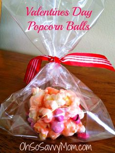 thought it would be perfect to try for Valentine's Day! They are called Valentines Day Popcorn Balls.