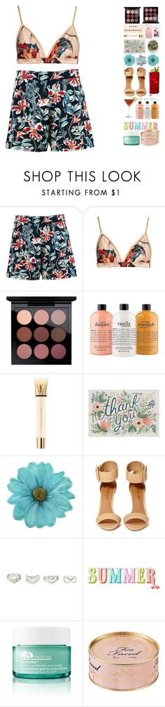 """""""5941"""" by tiffanyelinor ❤ liked on Polyvore featuring Boohoo, Katie Eary, philosophy, Yves Saint Laurent, NOVICA, Shoe Cult, Charlotte Russe, Origins and Too Faced Cosmetics"""