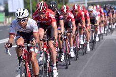 Giro d'Italia Trek and Lotto-Soudal lead the peloton (Tim de Waele/TDWSport.com)