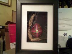 Saving a broken pysanka, by Jim Hollock owner of PysankyUSA. cut it in half and mount it in a 'shadow box' frame.