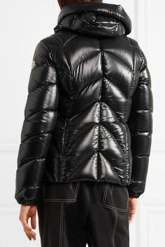 Moncler - Akebia Quilted Patent-shell Down Jacket - Black