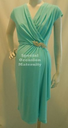 New Mint VNeck Maternity Dress Medium Cocktail Formal Weddings Semi Dresses Semi | eBay