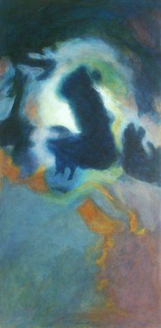 Ohne Titel 2004, Acryl auf Leinwand/Holz, 150 x 75 cm