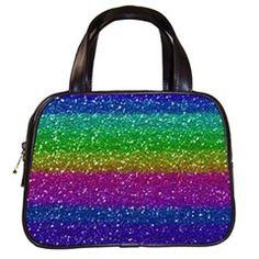 Glam Metal Genuine Leather Large handbag.