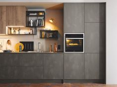 The industrial look develops with heavy metal and concrete effects