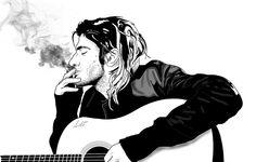 Kurt Cobain relaxing by Antonio Palumbo #kurtcobain #nirvana