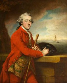 Captain Robert Boyle Nicholas with His Yacht 'Nepaul' Francis Cotes, R.A. (1760-1769) Montacute House - National Trust
