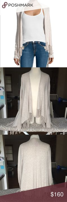 Calypso St Barth Godarni Sweater Cutest cashmere sweater with fringe Hem. Draped open front. The cutest, softest casual cardigan. Pair with literally anything in your closet! 100% Cashmere. Calypso St. Barth Sweaters Cardigans