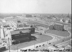 Weena Rotterdam, vanaf Stadhuis, richting het Westen (jaartal: 1950 tot 1960) - Foto's SERC