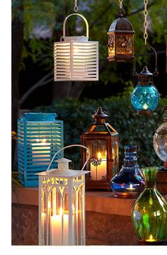 Natural Wonders. Garden décor, lanterns and umbrellas from Pier 1
