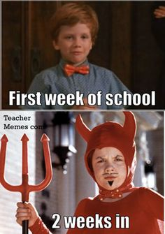 And for the kids' transformation to begin: 26 Pictures That Are Way Too Real For Teachers Going Back To School Back To School Funny, Going Back To School, Bored Teachers, New Teachers, Teacher Tired, School Teacher, Tired Funny, Moment Of Silence, Teacher Memes