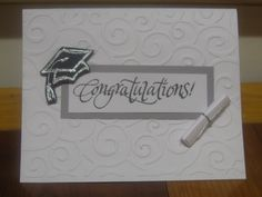 Graduation Handmade Card inside blank for by NicsHandmadeCards on etsy. {roll up money for scroll} Graduation Cards Handmade, Handmade Birthday Cards, Greeting Cards Handmade, Fathers Day Cards, Congratulations Card, Pretty Cards, Scrapbook Cards, Scrapbooking, Card Kit
