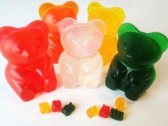 LARGE Gummi Bears soap Wrapped and Ready to Give - Birthday Party Gift Idea or Haribo Gummi Bear Fan Present- Lush Gummy Fun on Etsy, $3.99