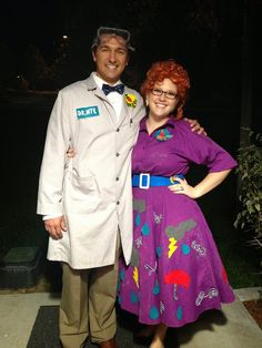 Halloween costumes: Bill Nye the Science Guy and Miss Frizzle.  Gotta do this next year!