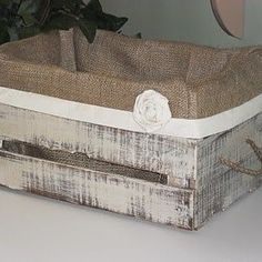 Resultado de imagen para forrar cajas mdp con arpillera