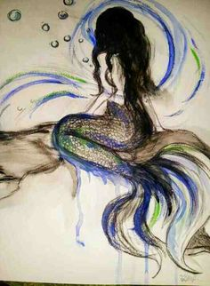 This creation reminds me of the reason why I love the ocean Mermaid Artwork, Mermaid Drawings, Mermaid Tattoos, Mermaid Paintings, Fantasy Mermaids, Real Mermaids, Mermaids And Mermen, Fantasy Creatures, Mythical Creatures