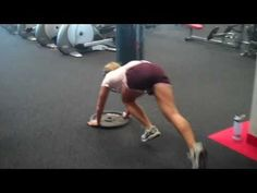 Plate Pushes - You'll really hate these.  Good practice to get ready for prowler pushes.  Like a lineman's drill in football but better because you have to get low and use all the muscles in your body.  It has a very big hip component and will fire up your abs.  Use it in a metcon with kettlebell swings, overhead lunges, and front squats and you've got a killer of a workout.