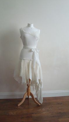 Alternative Wedding Dress Upcycled Woman's Clothing by EkoLuka