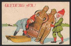 Glædelig jul! 1913 Danmark Postkort Brugt m mærke