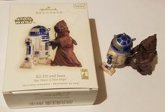 HALLMARK ORNAMENT 2007 STAR WARS R2-D2 AND JAWA ~ GREAT CONDITION ~ A NEW HOPE
