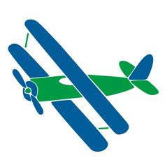 Biplane Wall Stencil for Transportation Themed Kids Room or Nursery