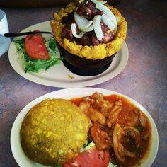 Mofongo Relleno. Puerto Rican Food #puertorico #food I want some