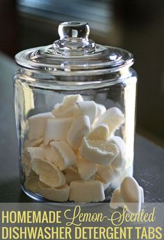 Homemade Dishwasher Detergent recipe that ACTUALLY works. No borax, just 3 cents per load. So easy and quick to make.