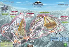 Ski!  Mt. Baker Trail Map (with World Record Snowfall)