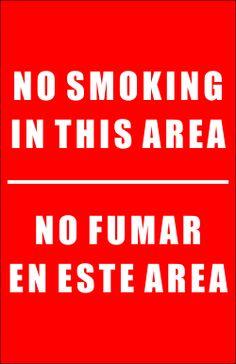 No smoking english and spanish
