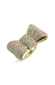 Kate Spade New York 'All Wrapped Up' Pavé Bow Ring