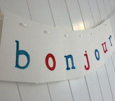 BONJOUR Banner  by LullaLoo on Etsy