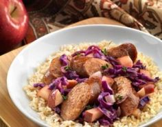 Kielbasa with Apples and Red Cabbage