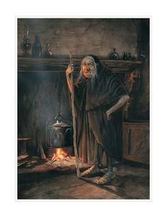 Large Fine Art Print  The Witch por StudioJBMongeGoblin en Etsy