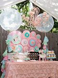 Vintage Pony Soiree by Whimsically Detailed | cake pops, rose fondant toppers & pearl sticks by maskipops by adri