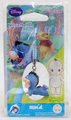 Disney Winniw the Pooh EEYORE Rose O'neill Kewpie Kewsion Strap JAPAN ANIME
