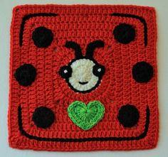 Ladybug by Anneke S. www.knit-a-square.com