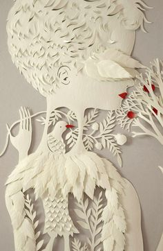 Amazing website about papercutting by multimedia artist, Elsa Mora. I hope to do papercutting like her someday!