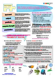 Free worksheet on fragments and run-on sentences - Common Core Standard 4.L1.f