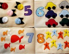 Numbers Quiet Book - PDF Pattern. $8.50, via Etsy.