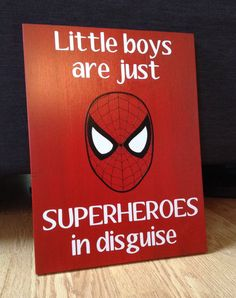 12x16 wood sign Letters & Spiderman are in vinyl    Other superheroes & colours available, just message me!    Thanks for looking