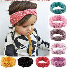 Bebê infantil crianças criança grande de envoltório de turbante cabeça cruz Headband Hairband Bandana cabeça acessórios de cabelo