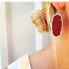 Have you picked up your maroon Kendra Scott's for your SEC football game?! Kendra Scott maroon pieces have been RE-STOCKED at www.sabiboutique.com! Texas A&M Aggie Maroon Kendra Scott Elle Earrings gameday earrings #shopsabi
