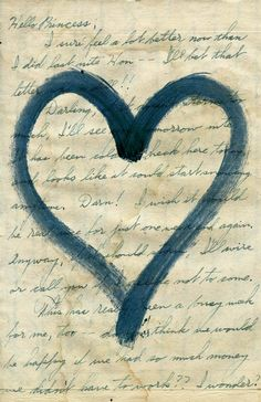 Love Letters Collection, blue: ♥
