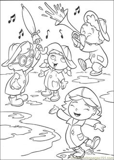 little einsteins having fun in the rain coloring pages for kids printable little einsteins coloring pages for kids