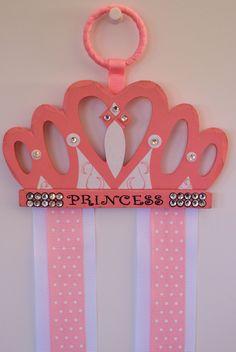Princess Crown Hair Bow Holder. $28.00, via Etsy.