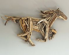 Driftwood Horse Wooden Art Sculpture by ReclaimedTime on Etsy Driftwood Sculpture, Horse Sculpture, Driftwood Art, Animal Sculptures, Nature Crafts, Decor Crafts, Rock Crafts, Arts And Crafts, Driftwood Projects